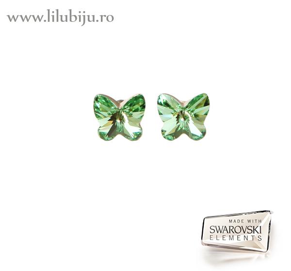 Cercei argint fluturi Swarovski Elements™